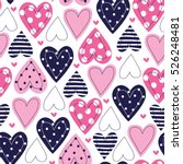 Seamless Love Pattern Vector...