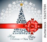 snowflake gold mandala. holiday ... | Shutterstock .eps vector #526257034