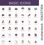 basic web icons. modern vector... | Shutterstock .eps vector #526257304