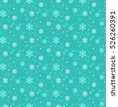 winter snowflakes seamless... | Shutterstock .eps vector #526260391