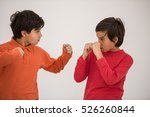 cute school kid posing in... | Shutterstock . vector #526260844