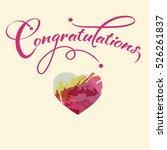 congratulations with a heart... | Shutterstock .eps vector #526261837