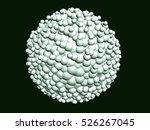 3d illustration. spherical... | Shutterstock . vector #526267045