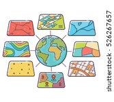 vector illustration of gis... | Shutterstock .eps vector #526267657