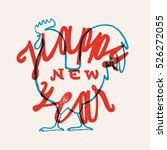 rooster new year lettering.... | Shutterstock .eps vector #526272055