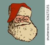 vintage santa claus face... | Shutterstock .eps vector #526272151