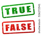 illustration of true and false...   Shutterstock .eps vector #526272541