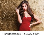 amazing luxury woman in stylish ... | Shutterstock . vector #526275424