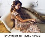 indoor portrait of sexy  young... | Shutterstock . vector #526275439