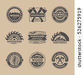 forest product vintage isolated ... | Shutterstock .eps vector #526275919