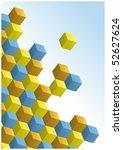 3d Op Art Cube Design Background