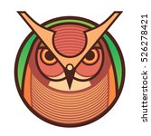 flat color icon of owl | Shutterstock .eps vector #526278421