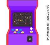 retro arcade machine plugged in ... | Shutterstock .eps vector #526284799