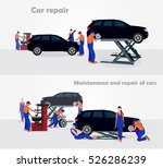 maintenance and repair cars | Shutterstock .eps vector #526286239