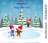 happy new year and merry... | Shutterstock .eps vector #526286455