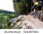 mountain biker riding on bike... | Shutterstock . vector #526287061