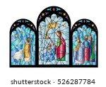christmas nativity religious... | Shutterstock .eps vector #526287784