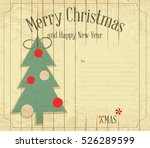 christmas and new year card.... | Shutterstock .eps vector #526289599
