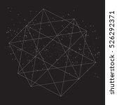 polygonal line geometric figure ... | Shutterstock .eps vector #526292371