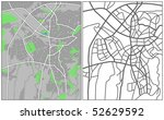 layered vector map of ankara. | Shutterstock .eps vector #52629592