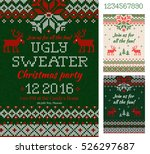 merry christmas party... | Shutterstock .eps vector #526297687
