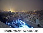 christmas time  city view... | Shutterstock . vector #526300201