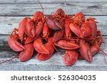 A Cluster Of 7 Steamed Lobster...