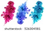 acrylic colors and ink in water.... | Shutterstock . vector #526304581
