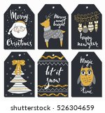 christmas tags set  hand drawn... | Shutterstock .eps vector #526304659