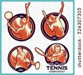 vector set of tennis labels.... | Shutterstock .eps vector #526307305
