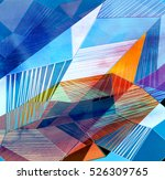 abstract colorful watercolor... | Shutterstock . vector #526309765