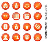 crime and punishment icons... | Shutterstock .eps vector #526310641
