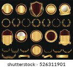 vector medieval golden shields... | Shutterstock .eps vector #526311901
