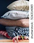 colorful pillows cushion plaid... | Shutterstock . vector #526314085