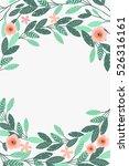 floral frame beautiful vintage... | Shutterstock .eps vector #526316161