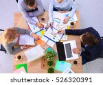 business meeting at office.... | Shutterstock . vector #526320391