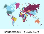 world map countries vector on... | Shutterstock .eps vector #526324675