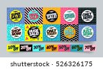 memphis style sale stickers and ... | Shutterstock .eps vector #526326175