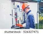 engineer working on checking... | Shutterstock . vector #526327471