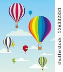 group of colorful hot air... | Shutterstock .eps vector #526332331