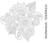 pattern for coloring book.... | Shutterstock .eps vector #526336111