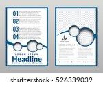 flyer  leaflet  brochure ... | Shutterstock .eps vector #526339039