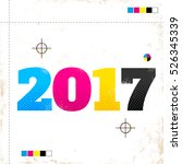 vector vintage poster with 2017 ... | Shutterstock .eps vector #526345339