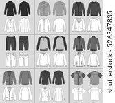 men's clothing outlined...