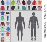 men's large clothing outlined... | Shutterstock .eps vector #526347871