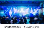 blur image of a crowd of people ... | Shutterstock . vector #526348141
