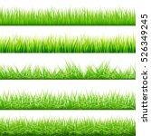 5 backgrounds of green grass ... | Shutterstock .eps vector #526349245