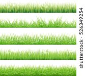 green grass big set  vector... | Shutterstock .eps vector #526349254