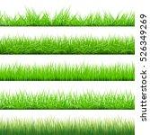 green grass big set  vector... | Shutterstock .eps vector #526349269