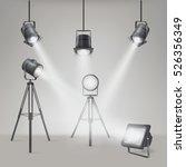 set of vector scenic spotlights ...